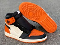 ea2259535bfccd Authentic 1 Shattered Backboard OG 1s Mens Basketball Shoes Black Starfish  Sail Sports Sneakers With Original Box 555088-005