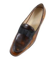 Kaufen Sie im Großhandel Vintage Braun Oxford Schuhe 2020
