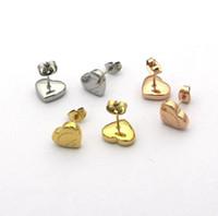 ingrosso oro di lusso-2019 Famous Brand Jewelry Acciaio inossidabile Lusso Oro argento oro rosa placcato s925 New york cuore Orecchini per uomo donna all'ingrosso