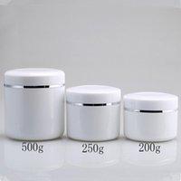 ingrosso crema di bottiglie di campione-200g 250g 500g barattolo di crema, plastica di sub-imbottigliamento di trucco, contenitore cosmetico vuoto, scatola metallica per campioni, lattine di lozione F1759