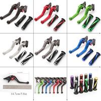 Wholesale adjustable brake levers for sale - Group buy CNC Adjustable Motorcycle Brake Clutch Lever Hand Grips Set For Yamaha FJR FJR1300