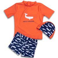traje de baño infantil de dos piezas al por mayor-Nuevos Hot Kids Lovely Fish Swimsuit Quality Boys Swimwear Teenagers Two-pieces Popular Infant Bath Suit Children Beachwear