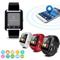 ingrosso uomini di usura di forma di modo-SmartWatch Bluetooth intelligente Guarda U8 per iPhone IOS Android Smart Phone Wear Clock dispositivo indossabile uomini di moda