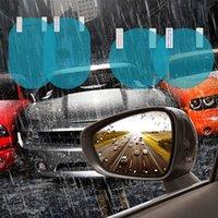 acessórios para espelhos retrovisores venda por atacado-2 PCS Espelho Retrovisor Do Carro Película Protetora Anti Fog Janela Clara Espelho Retrovisor À Prova de Chuva de Proteção Filme Macio Auto Acessórios