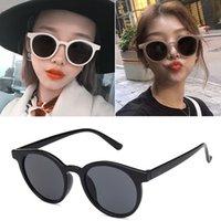 óculos brancos para meninas venda por atacado-Óculos de Sol Rodada do vintage para Mulheres Homens Clássico Retro Designer de Estilo Óculos de Sol Barato Moda Meninos Meninas Marca Preto Marrom Branco Barato