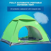 tentes tubulaires achat en gros de-Grande Throw Tente automatique Vitesse de plein air ouvert vomissais coupe-vent imperméable Plage Camping Tente Grand espace