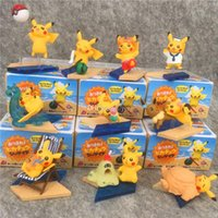 Wholesale plastic novelty bottles for sale - Group buy Best selling Detective Pikachu pvc Beach Pikachu dolls toys cartoon Action Figures animals toys Furnishing articles decoration best Gifts