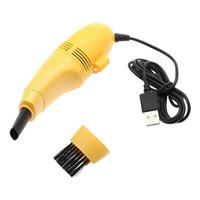 aspiradora portátil al por mayor-Mini Vacuum USB Keyboard Cleaner PC Kit de limpieza de polvo de cepillo portátil Herramienta