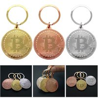 münzen schlüsselanhänger großhandel-Neue mode legierung bitcoin münze sammeln geschenk schlüsselanhänger schlüsselanhänger für frauen männer mode neue schmuck uhr