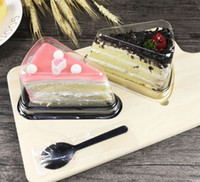 Wholesale individual cakes for sale - Group buy New Arrival Plastic Clear Disposable Cake Box Single Individual Inch Triangle Cake Boxes Food Dessert Packaging