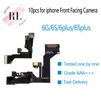 iphone cephe kaplama kamerası toptan satış-10 adet / grup (tek tek test) iPhone 6G 6 artı 6 S 6 s artı Işık Proximity Sensör Flex Kablo Şerit + Ön Bakan Kamera