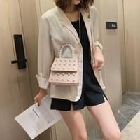 ingrosso borsa di colore della perla-borse di lusso borse da donna designer Pearl Chain Pure Color in pelle Borsa a tracolla Colorful torebka Leather Messenger handbag # 15