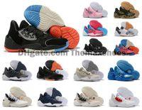 nouvelle arrivée chaussures de sport garçons achat en gros de-2019 Nouvelle Arrivée Mens James Harden 4 Vol. 4 4S IV MVP BHM Noir Garçons Baskets Chaussures Sports De Plein Air Baskets De Formation Taille NOUS 7-12