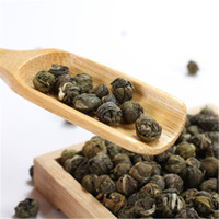 Wholesale dragon pearls tea for sale - Group buy Preference Chinese Organic Green Tea Small Ball Shape Jasmine Dragon Pearl Raw Tea Health Care New Spring Tea Green Food
