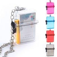 Wholesale Hots Sale Cigarette Box Plastic Portable Smoking Accessories Hanging Neck Type Transparent Cigarette Boxt