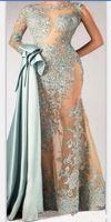 Wholesale saw sales resale online - 2020 New Hot Sale Gorgeous See Through Evening Dresses Sexy Party Gowns Green Appliques Prom Gowns Vestido De Festa