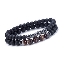 Wholesale bracelets for valentines day for sale - Group buy Unisex Elatic Bead Bracelet Beaded Black Mantra Prayer Beads Buddha Bracelet for Women and Mens Pulseras Masculina Valentines Gift