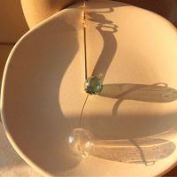 Wholesale bubble glass ball chandelier resale online - INS Brief Transparent Bubble Long Earrings For Women Original Glass Ball Dangle Drop Earrings Jewelry Brincos