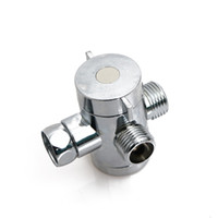 Wholesale bidet shower abs resale online - 1PC New Adjustable Inch Three Way T adapter Valve For Toilet Bidet Shower Head Diverter Valve Bathroom Tools