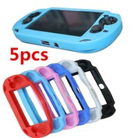 Wholesale psv cases for sale – best 5pcs Soft Silicone Skin Protector Guard Cover Protective Case Protect Shell For PSV PSVita PSV1000 Console