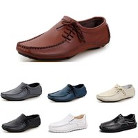 Wholesale comfortable mens dress shoe black for sale - Group buy Mens Running shoes fashion sports men sneaker black white brown dark blue gray creamy white comfortable athletic dress trainer sneaker