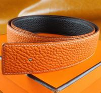 Wholesale belts brand names resale online - Best quality designer brand name fashion Men s Business Waist Belts Automatic buckle Genuine Leather belts For Men cm