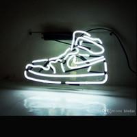 Wholesale led custom bar signs resale online - Acrylic ransparent Bottom Plate Neon Light Custom Neon Sports Sneaker Shoe LED Neon Signs For Sale