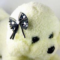 fibra de diamante al por mayor-Hecho a mano Pet Dog Bow Diamond Pearl Suministros para mascotas Arco de pelo Boutique Puppy Pet Grooming Accesorios para perros pequeños 50 pcs / lote
