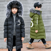 Wholesale old clothes for boys resale online - Winter Thicken Windproof Warm Kids Coat Waterproof Children Outerwear Kids Clothes Boys Jackets for Years Old