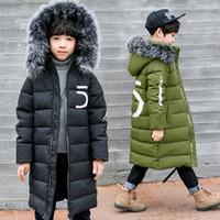 verdickende oberbekleidung groihandel-Winter verdicken winddicht warm kinder mantel wasserdicht kinder oberbekleidung kinder kleidung jungen jacken für 3-12 jahre alt