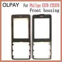 Wholesale phone philips online – custom OLPAY warranty Front housing frame with glass for Philips E570 CTE570 Mobile Xenium phone