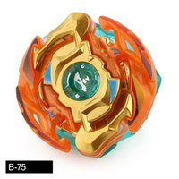 Wholesale gold beyblade toys online - Gold Color d Beyblade Burst B without launcher gold color Metal Booster spinning Top Starter Gyro Toy Kid Gift
