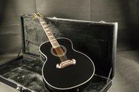 g e-gitarren standard großhandel-Kostenloser Versand G-J200 Super Jumbo Standard Acoustic-Electric Guitar schwarz mit guitarra Gitarren