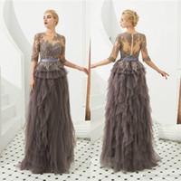 Wholesale long sleevs dress resale online - Elegant Long Sleevs Lace Appliqued A line Mother Of The Bride Dress Long Party Prom Evening Gown Mother Formal Dresses