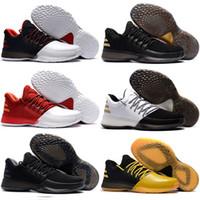 zapatos de escuela primaria al por mayor-2018 Nuevo James Harden Vol.1 Black History Month Blanco Naranja Oro Zapatillas de baloncesto para hombre Harden 1 Low BHM Boys Grade School Sneakers