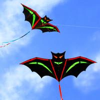 crianças pipas frete grátis venda por atacado-O envio gratuito de alta qualidade pipa de morcego com alça linha de brinquedo voador ao ar livre nylon ripstops crianças kite surf polvo pipa fábrica nova