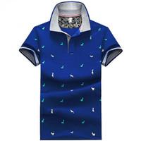 t-shirts bedruckten stehkragen großhandel-Neue Mode Frauen Unisex niedlichen Cartoon Hirsche drucken T-Shirts stricken Baumwolle Kurzarm Stehkragen Jugend elastische blau weiß Teens Tees Shirts