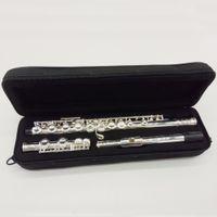 16-канальная флейта оптовых-Новое поступление Performance Flute FL-281 16 отверстий с замкнутым тоном C Музыкальные инструменты медная флейта с медным покрытием, с чехлом для чистки