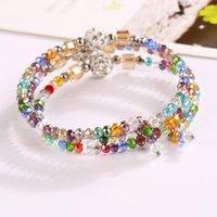 bracelets d'argile de diamant achat en gros de-Nouvelles arrivées Vente chaude Bracelet en cristal coloré Plus de cercle Wrap Ma'am Bracelets Bracelet en argile avec diamant