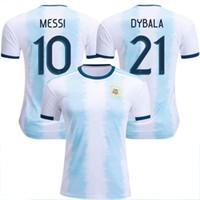 argentinien zuhause messi jersey großhandel-Neuer argentinischer Weltmeisterschaftsfußball Jersey 18/19/20 MESSI Haupt DI MARIA AGUERO thailändische Qualität Argentinien-Fußballhemden 2019