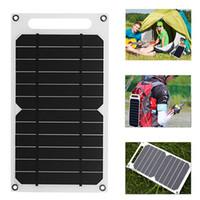 laptop solar ladegerät großhandel-Solarpanel-Ladegerät 5 Watt ultraleichter USB-Port Tragbares Power-Papier-Monokristallines Silizium für Handy-Camping