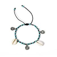 ювелирные изделия на лодыжках оптовых-Vintage Charm Boho  Ankle Bracelet Anklet Chain Foot Beach Sandal Jewelry Gift For Women
