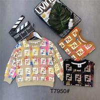 pull enfants maille achat en gros de-Marque Designer Enfants Laine Tricot Hiver Pull À Manches Longues Garçons Filles Pull Casual Enfants Bébé Chandails