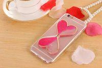 kum saati iphone kılıfı toptan satış-YunRT Quicksand Aşk Zaman Kum Saati Case Arka iPhone 5 5 S PU Yumuşak Kapak iphone 6 6 S Artı 7 8 artı X XR XS MAX durumda