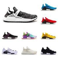 beste rennstiefel groihandel-2019 beste Qualität Pharrell Williams HUMAN RACE Schuhe Herren Originals NMD BBC Designer-Schuhe der Frauen HU Trail Stiefel mit Kasten läuft