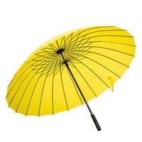ingrosso attività arcobaleno-Ombrello a manico lungo asta diritta Ombrello da campeggio Double Use business hotel ingrandisci Resistenza a pioggia tipi colorati LJJQ102