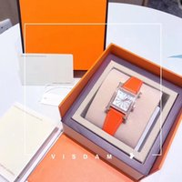 relógio digital mulher ouro venda por atacado-Alta qualidade New Fashion Women Genuine Leather Watch Top vende relógio de pulso de Ouro Rosa de luxo senhora Assista movimento Japão atacado dropshipping