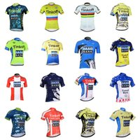 Wholesale jersey cycling saxo green online - 2019 SAXO BANK TINKOFF Men Cycling Jersey Short Sleeve Breathable Comfortable Bicycle clothes High Quality Bike Outdoor Shirts K012421
