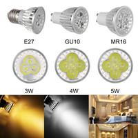 punto de luz 5w e27 al por mayor-3W 4W 5W LED Spotlight Luces regulable GU10 MR16 E27 E14 B22 del bulbo de la lámpara del LED Foco Punto de luminaria empotrada LED de iluminación