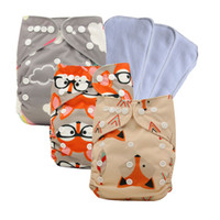 Wholesale unisex baby cloth diapers resale online - Unisex Baby Washable Reusable Cloth Pocket Nappy Diaper One Size Pocket Cloth Diaper Baby Shower Gifts